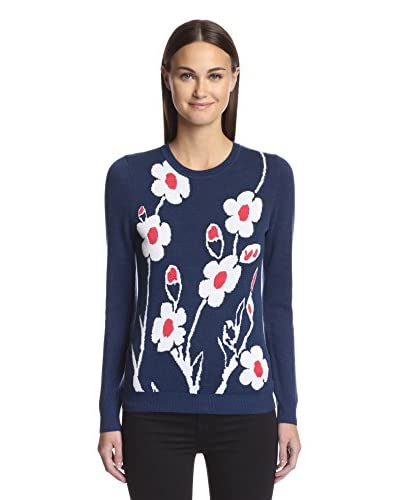 Kier & J Women's Intarsia Flower Sweater