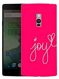 "Humor Gang Joy In Pink Printed Designer Mobile Back Cover For ""OnePlus Two"" (3D, Matte, Premium Quality Snap On Case)..."