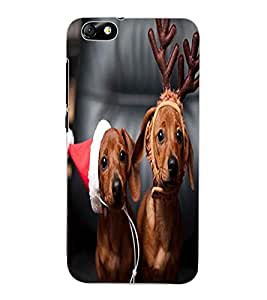 ColourCraft Cute Funny Dogs Design Back Case Cover for HUAWEI HONOR 4X