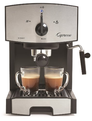 Capresso Ec50 Stainless Steel Pump Espresso And Cappuccino Machine front-583296
