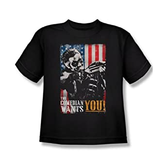 The Watchmen - Youth The Comedian Wants You T-Shirt In Black, X-Large, Black