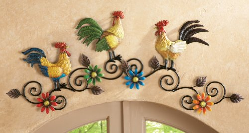Roosters for the kitchen shopswell for Chicken kitchen decorating ideas