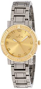 Invicta Women's 14897 Ceramics Gold Dial Gunmetal Tone Ceramic Watch