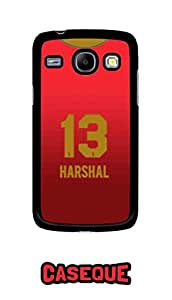 Caseque IPL Royal Challengers Banglore Harshal Jersey Back Shell Case Cover For Samsung Galaxy Core