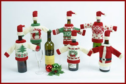Christmas Wine Bottle Decoration: Wine Bottle