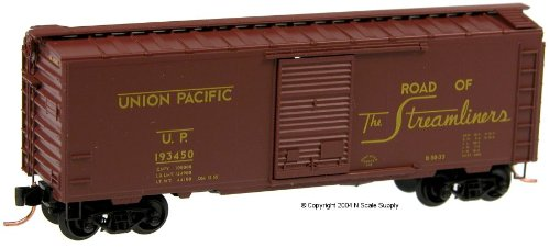 Micro Trains N 20296, 40' Standard Box Car, Single Door, Union Pacific UP#193450