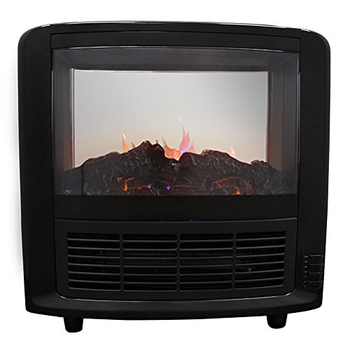 Ainfox 1500w Mini Size Free Standing Houseuse Portable Fireplace Heating Firebox Home Black (Modern Propane Fireplace compare prices)