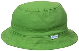 i play. Toddler Organic Cotton Reversible Bucket Hat, Olive/Gray, 2T-4T