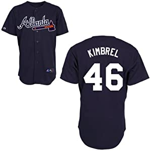 Craig Kimbrel Atlanta Braves Alternate Navy Replica Jersey by Majestic by Majestic