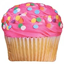 IScream Pink Icing Cupcake Pillow