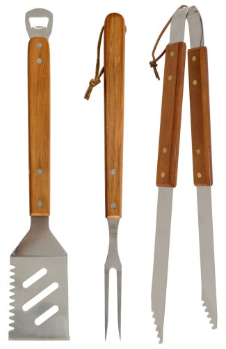 Mr Bar B Q 02295XNST 3-Piece Stainless Steel Tool Set
