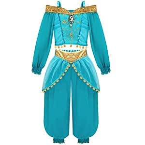 Disney Store Jasmine Costume From Aladdin [ 2 , 3 ] - [ 10 ]