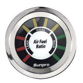 Sunpro CP8200 StyleLine Air/Fuel Ratio Gauge Dial - White Dial (Gauges Air Fuel Ratio compare prices)