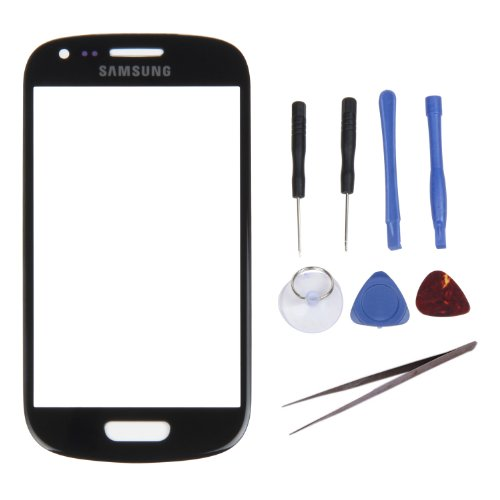Iwoo Replacement Outer Front Screen Glass Lens For Samsung Galaxy Siii S3 Mini I8190 + Tools (Black) front-57967