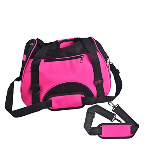 WOpet Soft-Sided Pet Carrier Comfortable Carrier Adjustable and Foldable Bag Home for Dogs Cats and Puppies