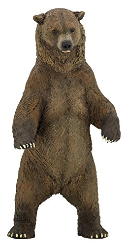 Papo Wild Animal Kingdom Figure, Grizzly Bear