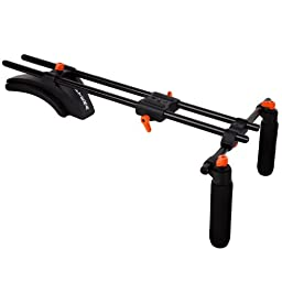 Opteka CXS-300 Heavy Duty Dual-Grip Video Shoulder Stabilizer Support System for Digital SLR Cameras & Camcorders