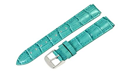 Clockwork Synergy® - 12mm x 10mm - Ocean Croco Grain Leather Watch Band fits Philip stein Mini