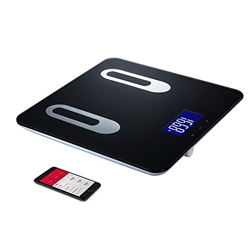 Digital Body Bath Scale - Measures Weight, Fat, Muscle, Bone & Hydration with Smartphone Tracking (black), 400-Pounds
