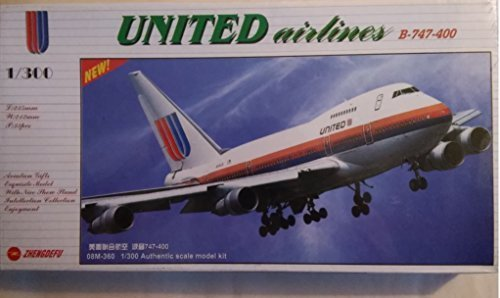 united-airlines-b-747-400-air-line-series-1-300-scale-model-kit-by-zhengdefu