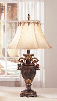Set of 2 Table Lamps in Dark Bronze Finish
