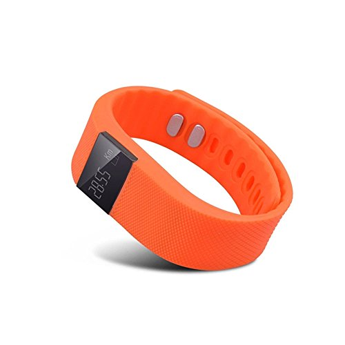 Hideer® TW64 Bluetooth Smartband Smart Watch Wrist Band Smartwatch Pedometer Fitness Activity Tracker Anti-lost for Android IOS Smartphones (Orange)
