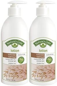 Natures Gates Colloidal Oatmeal Moisturizing Lotion for Itchy, Dry & Sensitive Skin, 18 oz, 2 pk