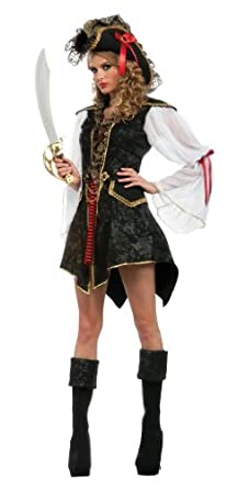 Rubie's Costume Deluxe Adult Cutthroat's Wench Costume, Black, One Size