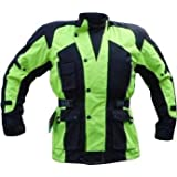 CJ-1019 High Visibility Motorcycle Jacket - Waterproof Thermal,Vented & Armouredby Australian Bikers Gear