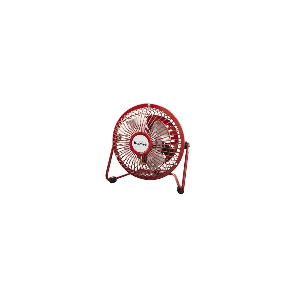 NEW Holmes 4 Mini Fan Red (Indoor & Outdoor Living)