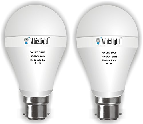 5W LED Bulb (Cool Day Light, Set Of 2)