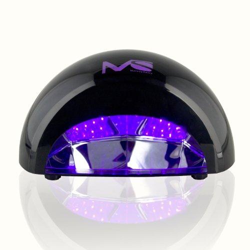 Melodysusie 2013 Upgraded 12W Violetili Led Light Lamp Gel Nail Dryer For Curing Led Gel & Gelish Nail Polish Black + Melodysusietm Nail Nipper