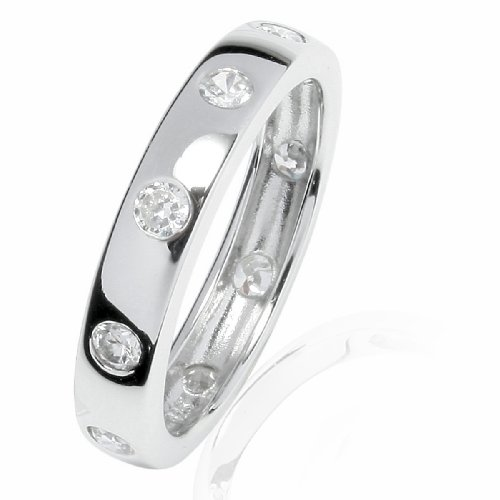 RAFAELA DONATA 925/- Sterling Silber rhodiniert Ring mit Zirkonia weiß