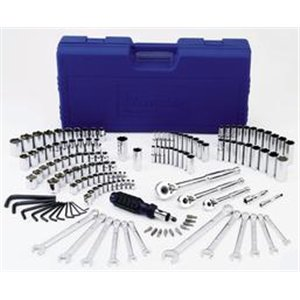 Westward 4YP77 Socket Set, 145 Pieces
