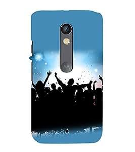 printtech Disco Party Dance Back Case Cover for Motorola Moto X Style