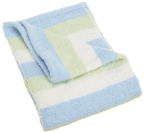 Carters Super Cozy Striped Blanket, Blue