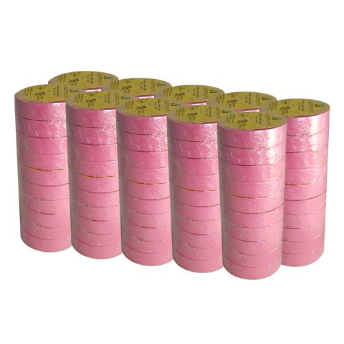 """Electrical Tape 3/4"""" X 66' Ul/Csa 100 Roll Case Several Colors., Pink"""
