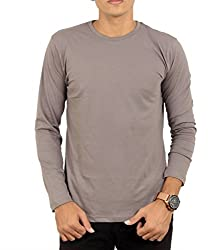 Younsters Choice Men's Cotton T-Shirt (YC-5807_Grey_Large)