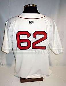 Pawtucket Red Sox Game Worn #62 Authentic On-Field White Jersey Size 52 by Your Sports Memorabilia Store