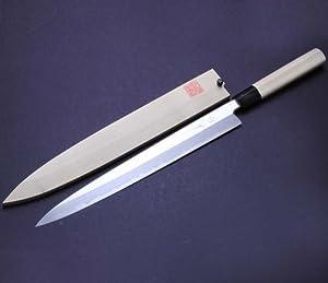 yoshihiro left handed shiroko white steel kasumi yanagi sushi sashimi japanese chef 39 s knife a pec. Black Bedroom Furniture Sets. Home Design Ideas