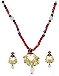 Kshitij Jewels Metal Pendant Necklace Set For Women (KJM 053)