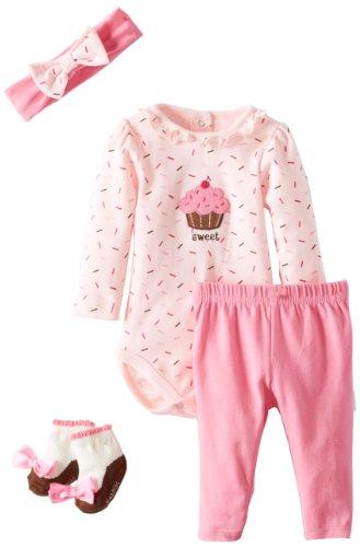 Vitamins Baby Girls Newborn Sweet Cupcake, Pink, 3 Months