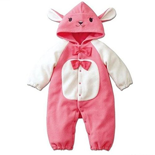 Piggy2gether Cute Pink Baby Rabbit Jumpsuit Child Romper Animal Costume