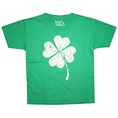 Happy Family Clothing Big Boys Lucky Four Leaf Clover Youth T-Shirt