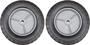 2 x Solid Rubber 20cm Diameter Wheel/Tyre 8x1.75 Spare