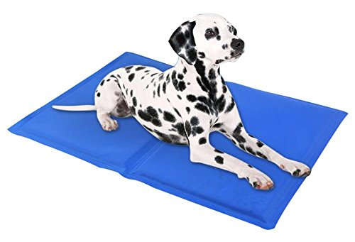 Pet Dog Self Cooling Gel Mat, IHOVEN Cat Chilly Ice Cooler Pad Bed Dogs Coolmat Pets Cold Pillow Beds Cats Coolmat Gelmat