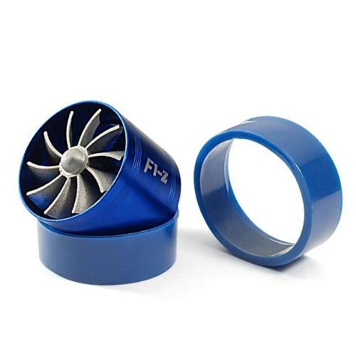 "Short Ram//Cold Air Intake Turbonator 2.5/"" Dual Fan Gas Fuel Saver Red"