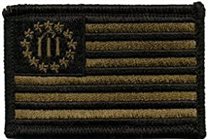 KM Outfitters® (Three Percenter USA Flag - Olive Drab) Patch