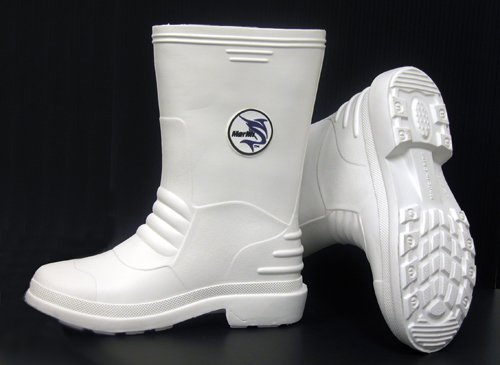 Marlin White Rubber Boots Size: 13