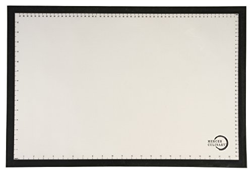 "Mercer Culinary M31087Bk Silicone Bake Mat With Black Border, Full Size, 16 1/2"" By 24 1/2"", Black"